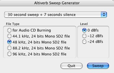 Altiverb Sweep Generator